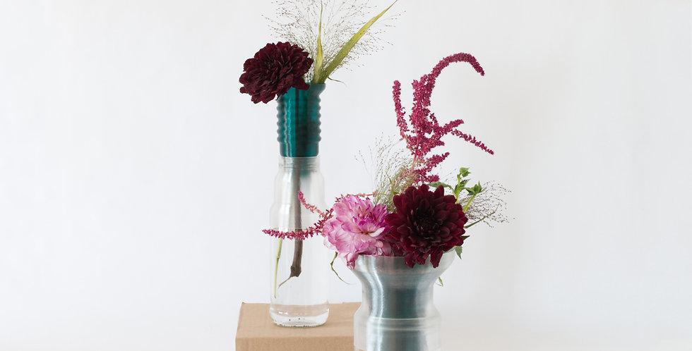 Warren & Laetitia | Half-Vase mimo – Models 1 + 2 transparent green