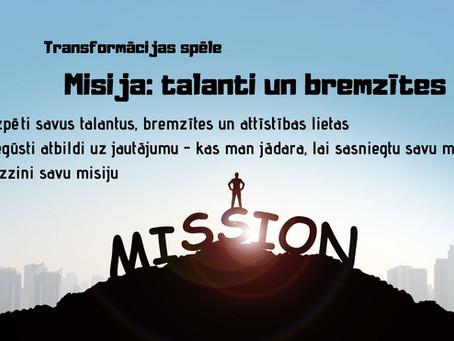 Misija: Talanti un bremzītes
