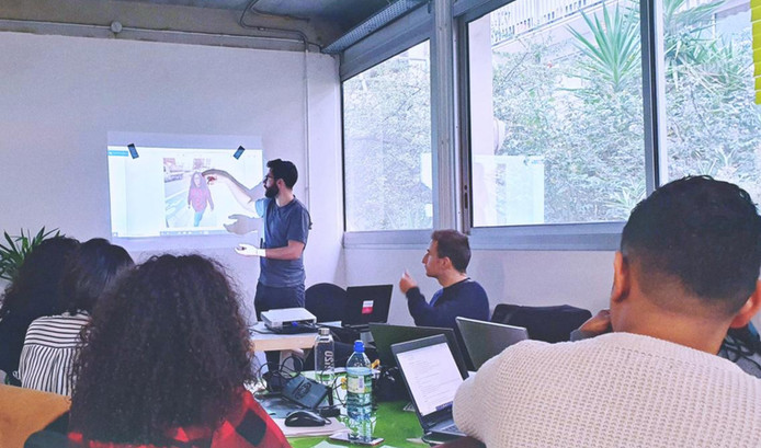 Workshop d'une journée avec les apprenant.e.s de Label Ecole : la photographie adaptée au e-commerce.  Paris, octobre 2019