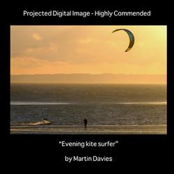 HC evening kite surfer