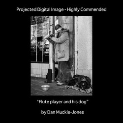 HC flute player and his dog