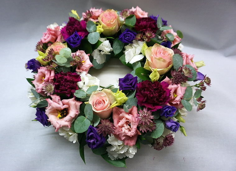 Pink & Purple Wreath