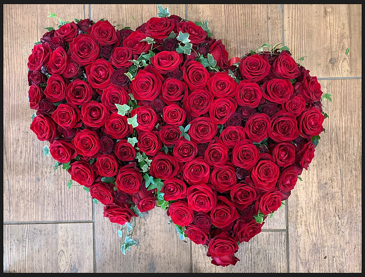 Red Rose Double Linked Heart