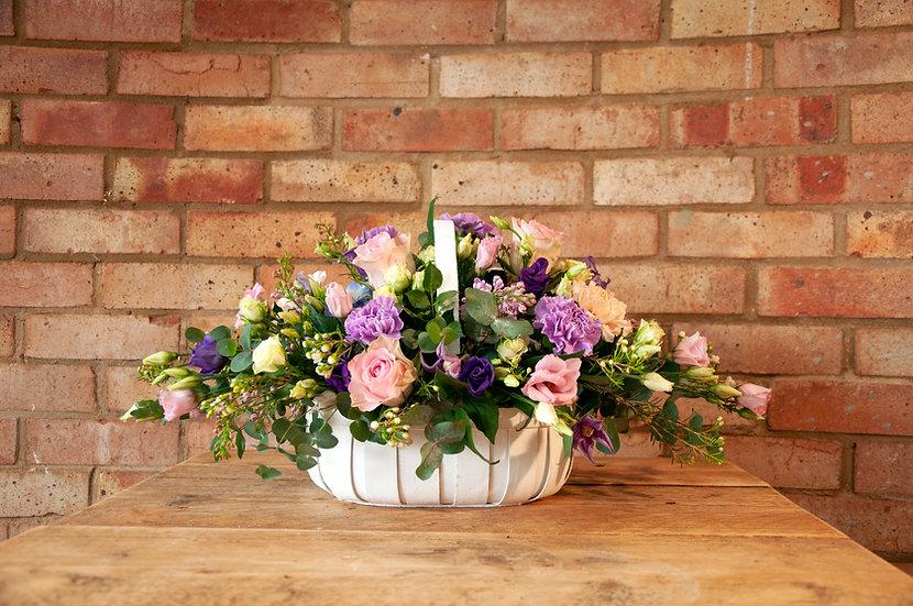Lilac & Pink Basket