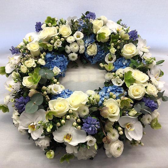 Blue & White Luxury Wreath