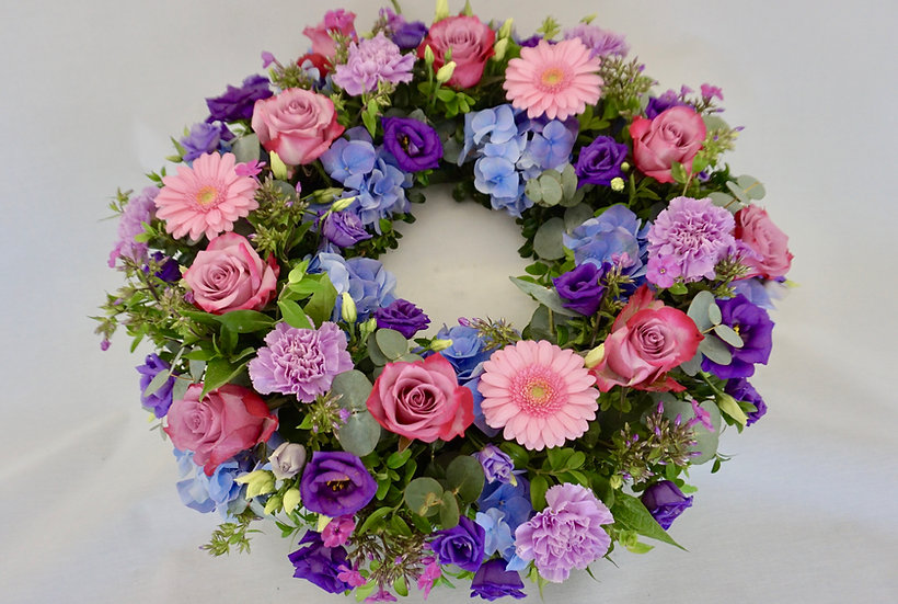 Lilac, Pink & Purple Wreath
