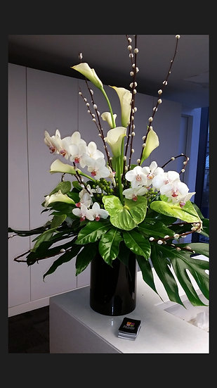 Luxury Orchid and Lily vase