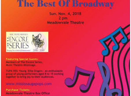 TUPA Y.E.S. to Perform at Mississauga POPS presents The Best of Broadway
