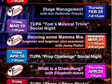TUPA Events Calendar 2021
