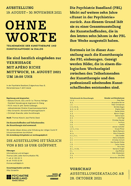 Einladung_Ausstellung_ Vernissage_Ohne Worte_ Psychiatrie Baselland_Liestal_18.8.2021_Seit