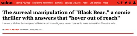 Black Bear Director interview at SALON.com