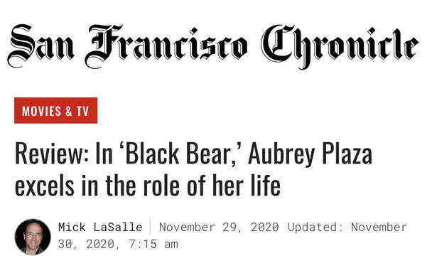 The San Francisco Chronicle - Black Bear Review