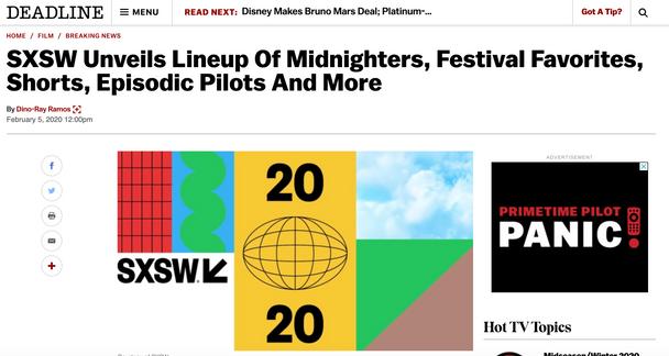 SXSW announcement of THE SURROGATE -- Deadline
