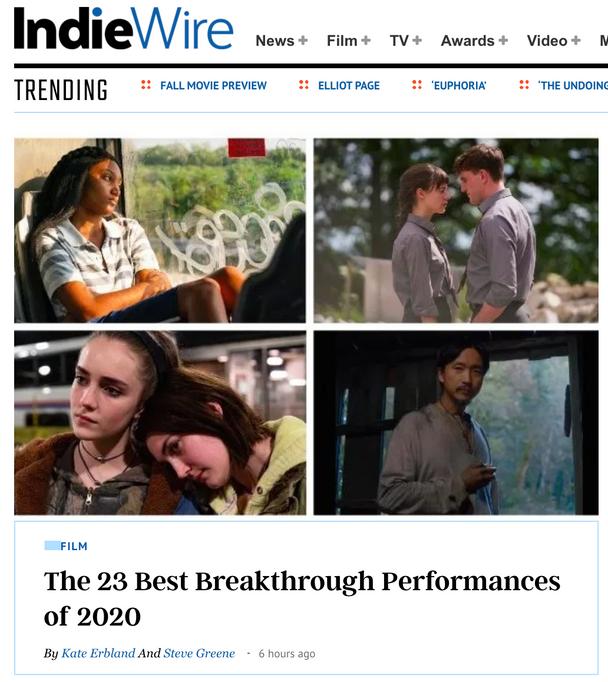 Jasmine Batchelor named Top Breakout Performance 2020