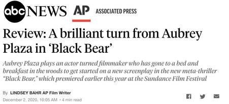 ABC News / AP Review of Black Bear
