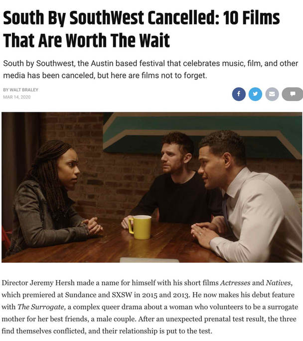 ScreenRant 10 Films Worth the Wait from Cancelled SXSW