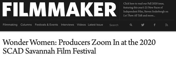 Tandem Pics' CEO Julie Christeas in Filmmaker Magazine