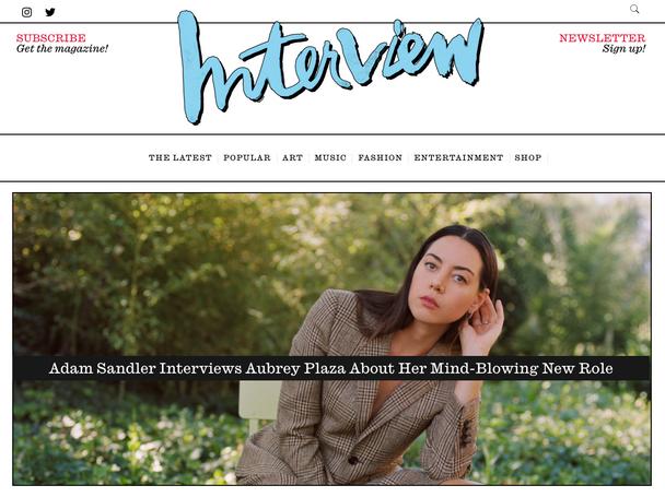 Adam Sandler interviews Aubrey Plaza for Black Bear