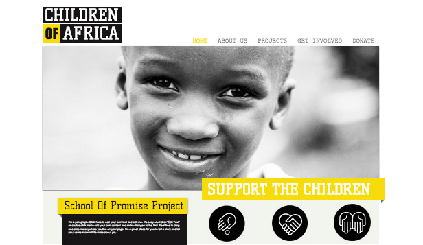 Religion & Non Profit website templates – Feed The World