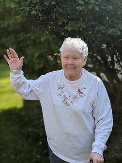 Smiling older adult