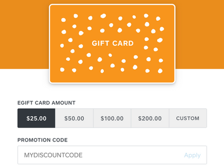 Gift Cards, 15% off with promo code: GIFTDK15