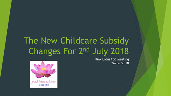 Meeting: The new childcare subsidies (CCS) and what it means for educator