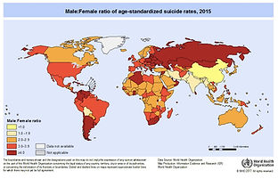 world suicide rates by gender