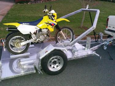 A great idea for Motorbike Trailer!