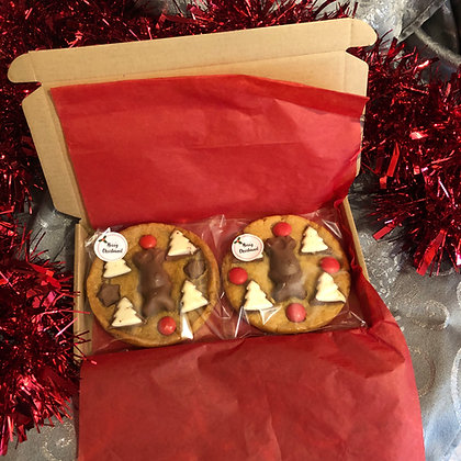 Box of 2 stocking filler cookies