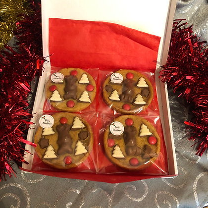 Box of 4 stocking filler cookies