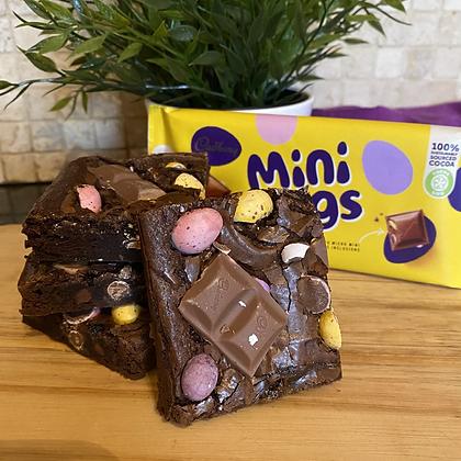 Mini egg bar brownie