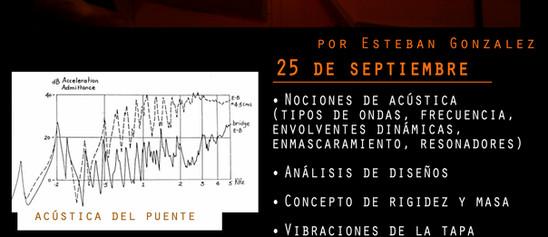 Flyer seminario Acustica de Guitarras