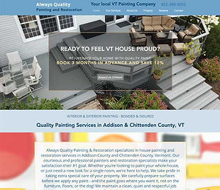 Always Quality Painting website
