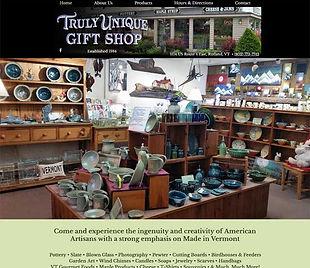 Truly Unique Gift Shop website