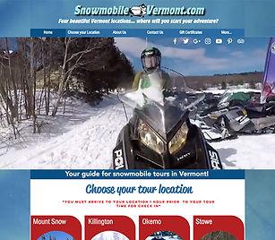 Snowmobile Vermont website