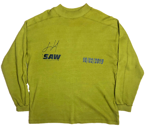 [L] Lime geen mock neck