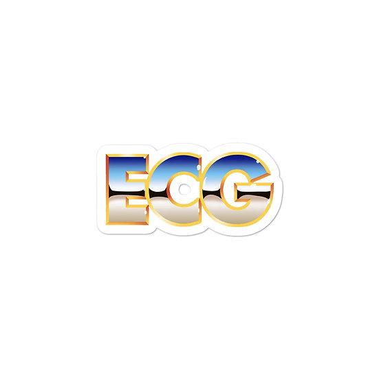 "ECG ""Lift-A-Mania"" Sticker"
