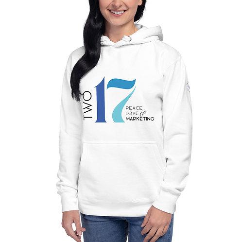 Two17 Unisex Hoodie with Sleeve Print