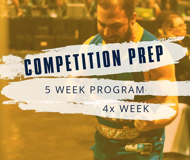 Competition Prep- 5 Week & 4 Times Week
