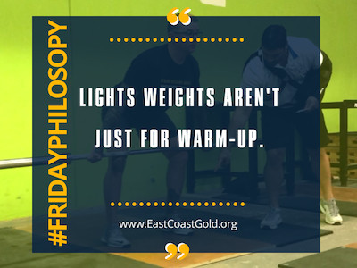 Phil-Osophy: Light Weights Aren't Just For Warm-Up
