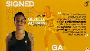Gezelle Allison signs for Wasps