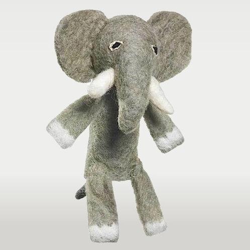 Woolie Elephant Finger Puppet