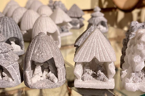 Stone Carved Nativity