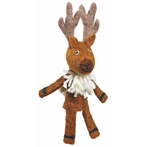 Woolie Deer Finger Puppet
