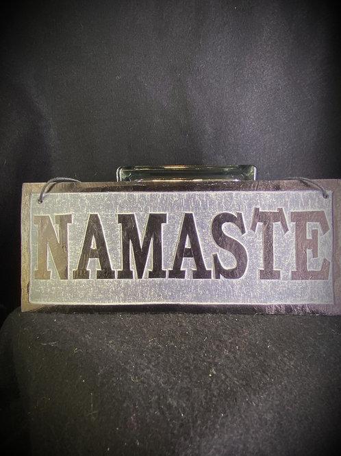 Large Namaste Slate Sign