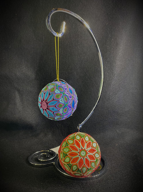 Round Quilled Christmas Ornament