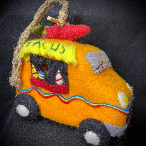 Felt Taco Truck Birdhouse