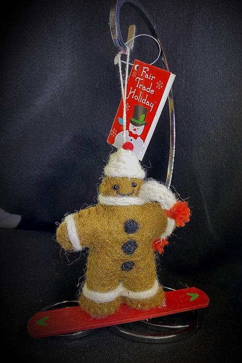 Snowboarding Gingerbread
