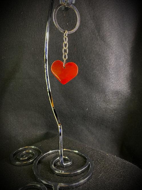 Tagua Heart Keychain
