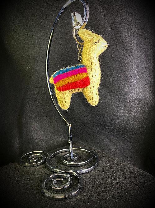 Felt Llama Keychain